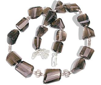 Design 1692: gray smoky quartz necklaces