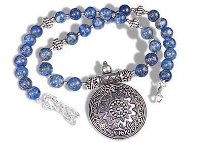 Design 1693: blue lapis lazuli ethnic necklaces