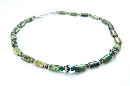 Design 17514: multi-color multi-stone necklaces