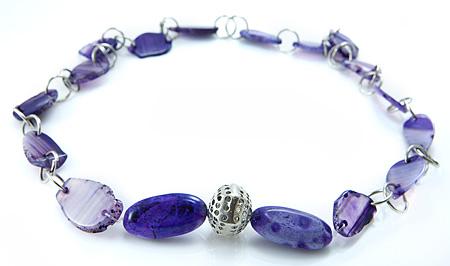 Design 17618: black banded onyx necklaces