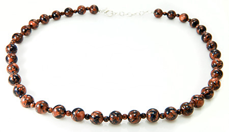 Design 17690: brown goldstone necklaces