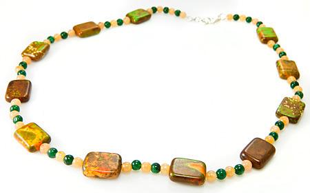 Design 17691: multi-color multi-stone necklaces