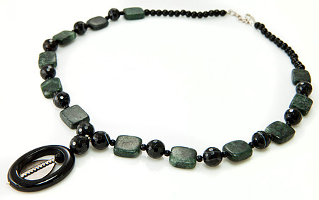 Design 17692: black onyx necklaces