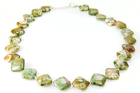 Design 17693: green jasper necklaces