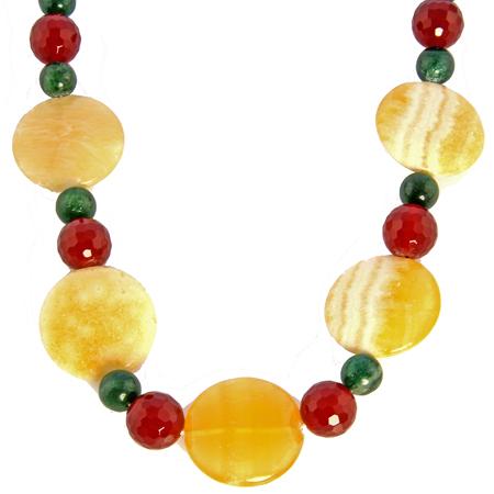 Design 17694: multi-color multi-stone necklaces