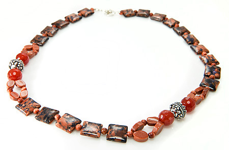 Design 17697: brown goldstone necklaces