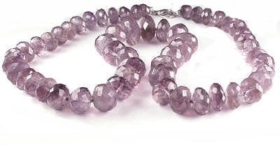 Design 17739: purple amethyst necklaces