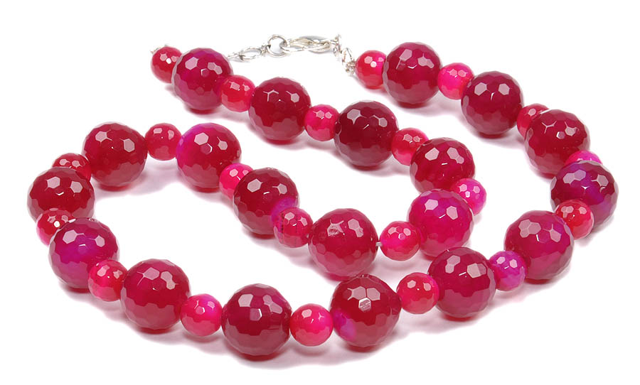 Design 18146: red agate necklaces