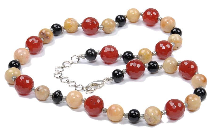 Design 18162: multi-color multi-stone necklaces