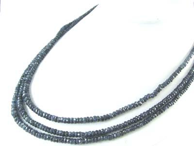 Design 1848: Blue sapphire multistrand necklaces