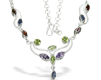 Design 1853: multi-color multi-stone brides-maids necklaces