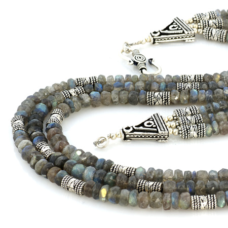 Design 18615: green labradorite necklaces