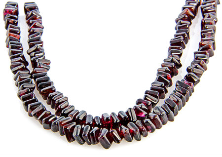 Design 18746: red garnet necklaces