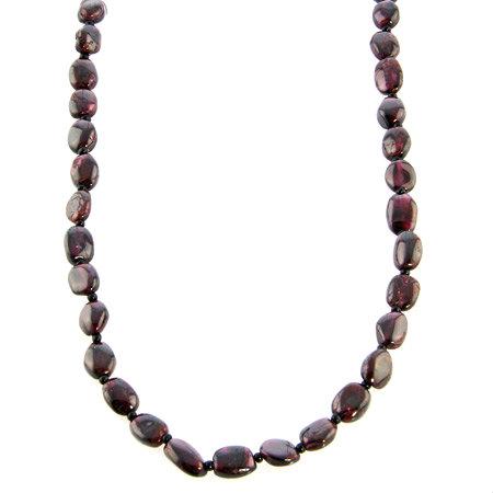 Design 18748: red garnet necklaces
