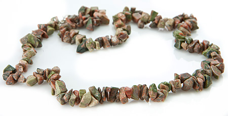 Design 18840: green unakite necklaces