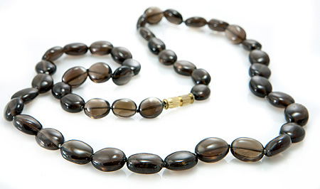 Design 18843: black smoky quartz necklaces