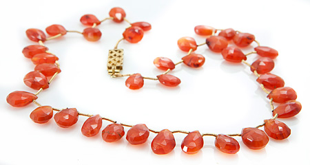 Design 18844: orange carnelian necklaces