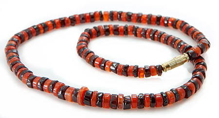 Design 18857: orange carnelian necklaces