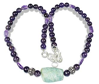 Design 20934: purple amethyst necklaces