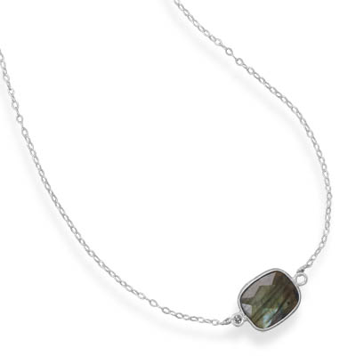 Design 21732: gray labradorite contemporary necklaces