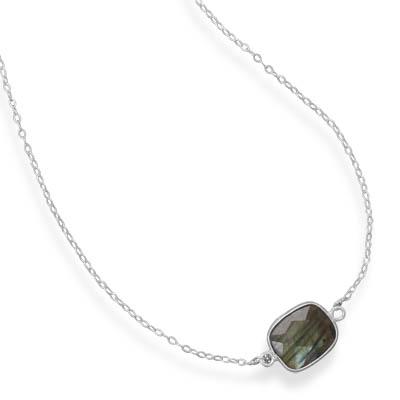 Design 21732: gray labradorite contemporary necklaces