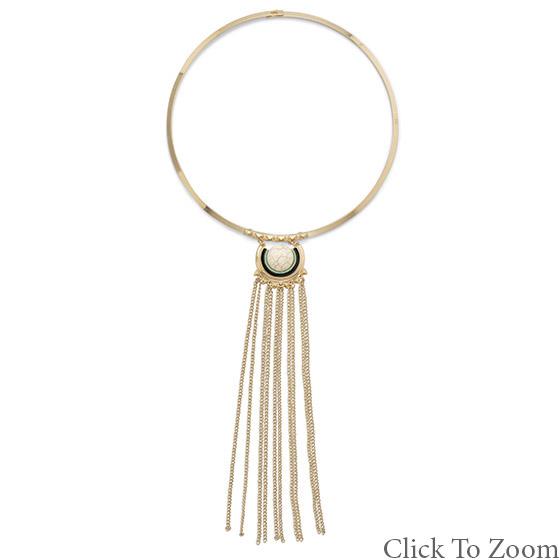 Design 21733: white howlite necklaces