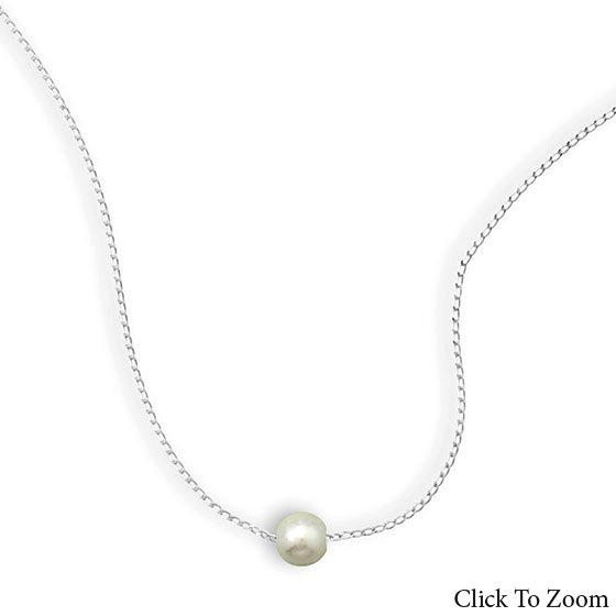 Design 21735: white pearl classic necklaces