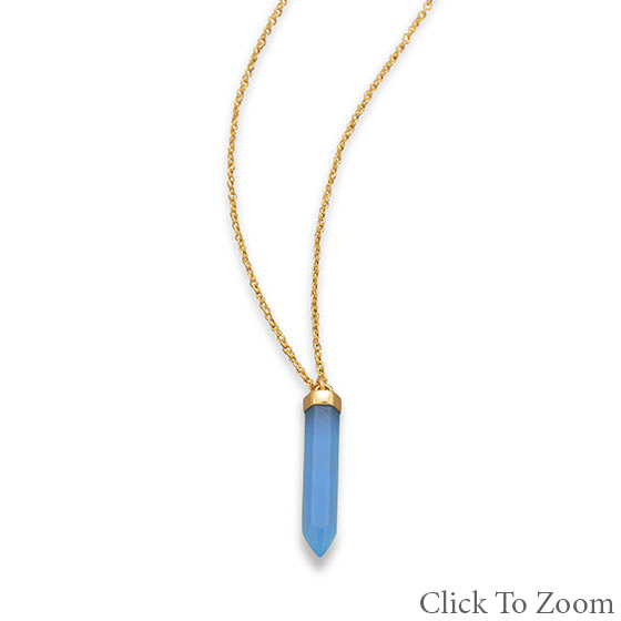 Design 21736: blue chalcedony pendant necklaces