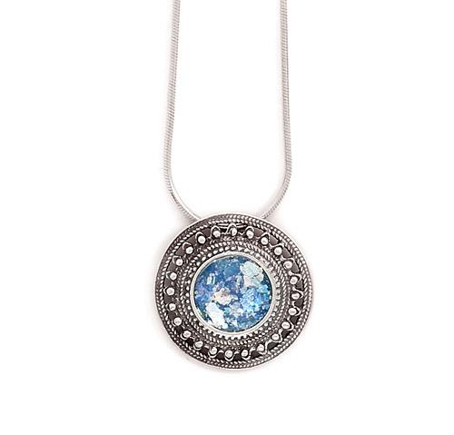 Design 22020: blue glass necklaces