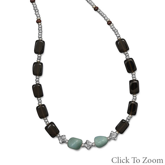 Design 22022: multi-color multi-stone necklaces