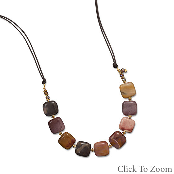 Design 22023: multi-color jasper necklaces