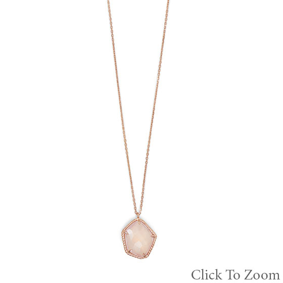 Design 22030: pink rose quartz necklaces