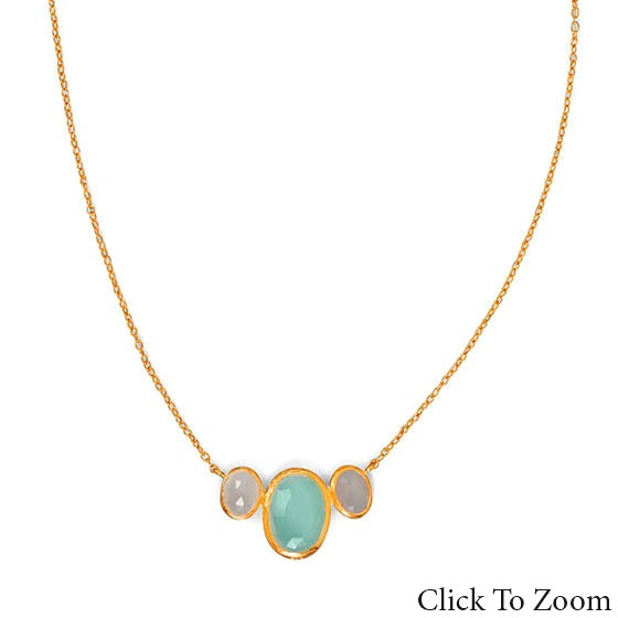 Design 22031: multi-color multi-stone necklaces