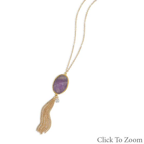 Design 22036: purple amethyst necklaces