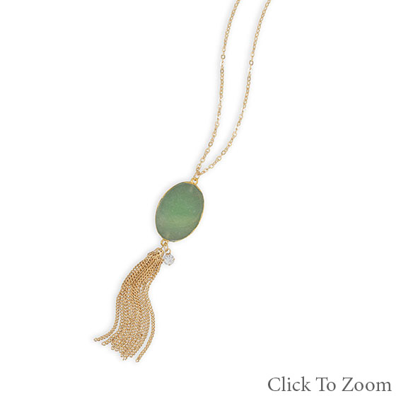 Design 22037: green aventurine necklaces