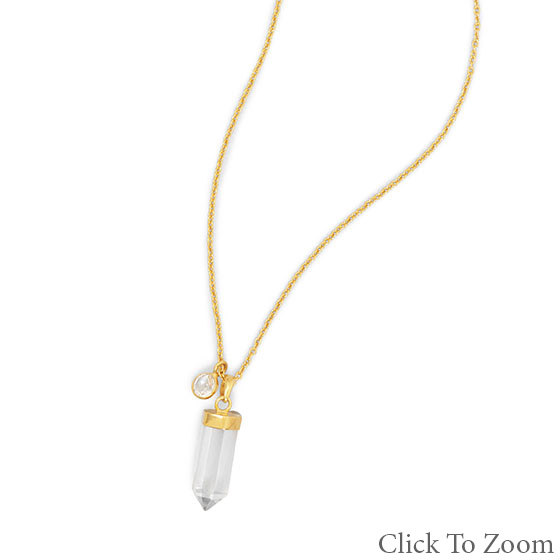 Design 22040: white quartz necklaces