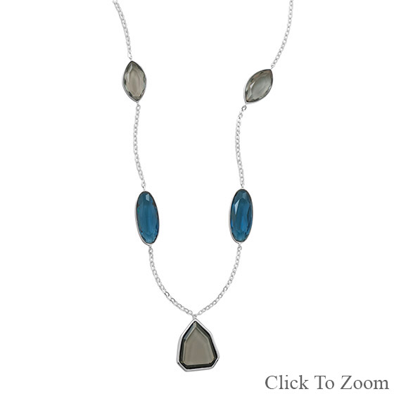 Design 22043: multi-color multi-stone necklaces