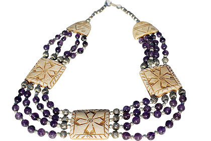 Design 227: brown,purple amethyst chunky necklaces