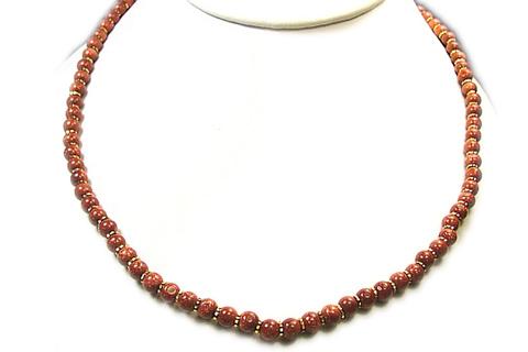 Design 23: brown goldstone necklaces