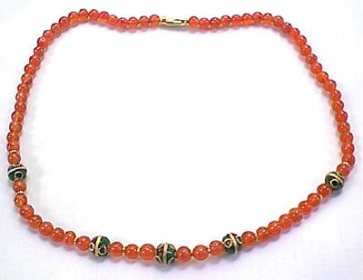 Design 252: orange carnelian ethnic necklaces