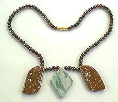 Design 256: red garnet necklaces