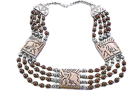 Design 282: brown,red jasper chunky necklaces