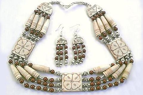 Design 305: red jasper chunky necklaces