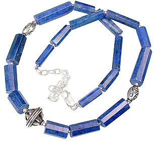 Design 3113: blue lapis lazuli ethnic necklaces