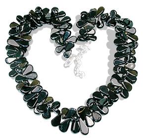 Design 3134: brown,gray smoky quartz drop necklaces