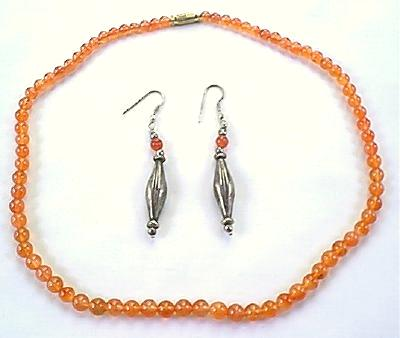 Design 321: orange carnelian necklaces