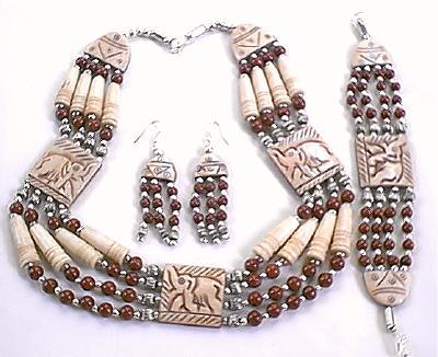 Design 384: red,white jasper choker, tribal necklaces