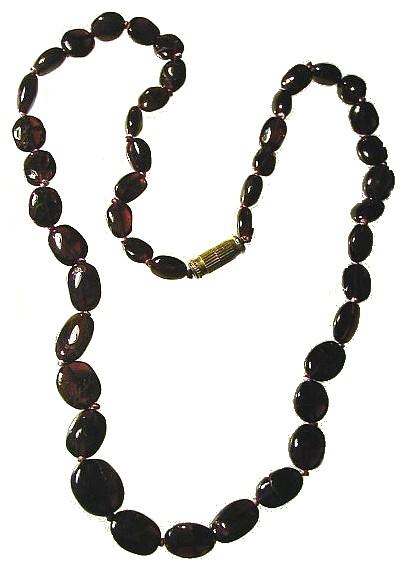 Design 418: red garnet necklaces