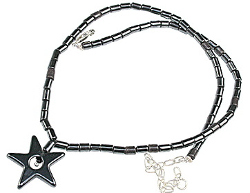 Design 459: black hematite halloween necklaces