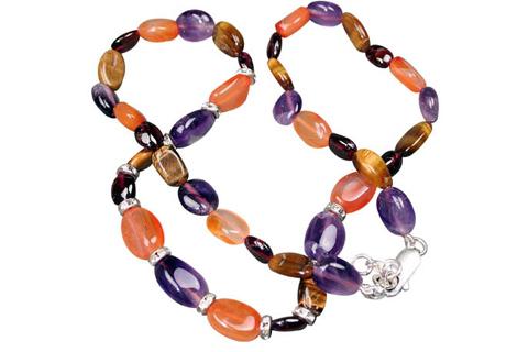 Design 467: orange,multi-color multi-stone halloween necklaces